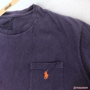 Polo by Ralph Lauren Shirts - [Polo Ralph Lauren] Mens Purple Crewneck Logo Tee